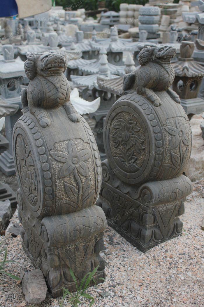 曲阳石雕 曲阳雕塑 仿古石雕门墩